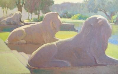 LIONS AT CITY PARK -18X24
